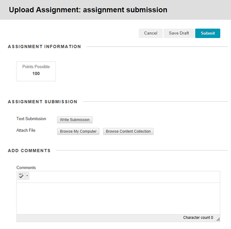 How to do an assignment